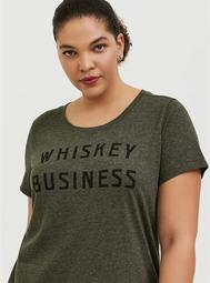 Whisky Business Classic Fit Tee - Triblend Jersey Olive Green