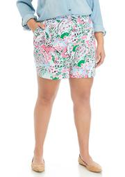 Plus Size 5 Inch Printed Shorts