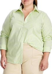 Plus Size No Iron Button Down Shirt