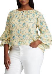 Plus Size Sullivan 3/4 Sleeve Woven Blouse