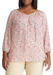 Plus Size Ana 3/4 Sleeve Woven Top