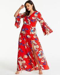 Ax Paris Curve Floral Maxi Dress