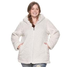 Juniors' Plus Size madden NYC Fleece Hooded Jacket