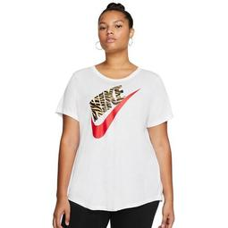 Plus Size Nike Logo Graphic Tee
