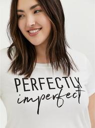 Perfectly Imperfect White Crew Tee