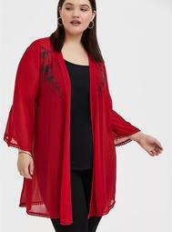 Disney Mulan Phoenix Red Chiffon Layering Top