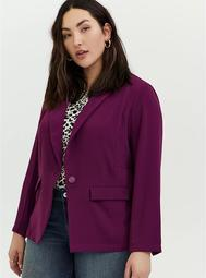 Plum Purple Longline Blazer
