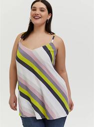 Sophie - Multi Stripe Crinkle Gauze Swing Cami