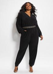 Tall Belted Harem Wrap Jumpsuit