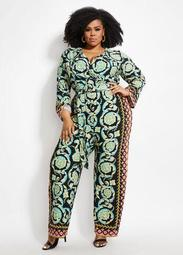 Tall Belted Status Wrap Jumpsuit