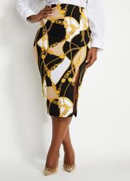 Status Side Slit Skirt