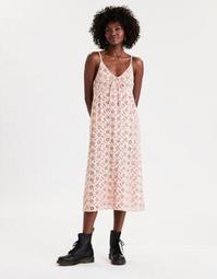 AE Embroidered Midi Slip Dress