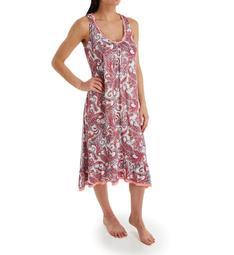 Ellen Tracy Pink Sunrise Sleeveless Midi Gown with Shelf Bra 8321486