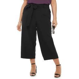 Plus Size Apt. 9® Tie-Waist Crop Pants
