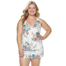 Plus Size Apt. 9® Floral Sleep Tank & Pajama Shorts Set