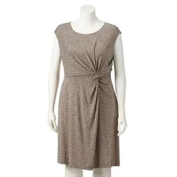 Plus Size Dana Buchman Knot-Front Dress