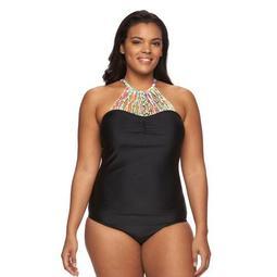 Plus Size Costa Del Sol Macrame Underwire One-Piece Swimsuit
