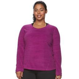 Plus Size Tek Gear® Fleece Scoopneck Sweatshirt