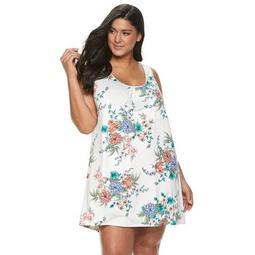Plus Size Apt. 9® Floral Lace-Back Chemise
