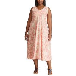 Plus Size Chaps V-Neck Dress
