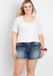 Plus Size Vigoss® Americana Fray Hem 5in Short