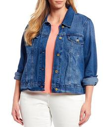 MICHAEL Michael Kors Plus Size Basic Denim Jacket