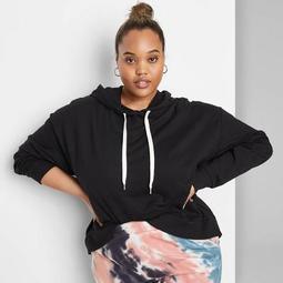 Women's Plus Size Hoodie - Wild Fable™ Black