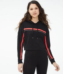 Piped Stripe Pullover Hoodie