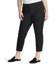 Plus Size Cotton Twill Skinny Pant