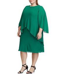 Plus Size Layered Chiffon Dress