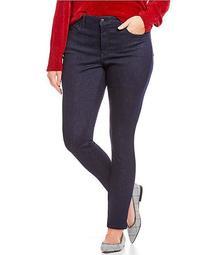 Plus Size Ami Tonal Stitching Skinny Leggings