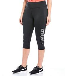 Plus Women's All Day Wear Capri Training Tights
