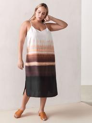 Printed Sleeveless Midi Slip Dress - Addition Elle