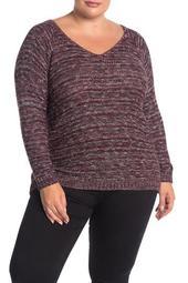 Marled Knit Sweater (Plus Size)