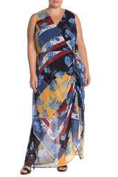 Indigo Patch Maxi Dress (Plus Size)