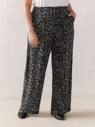 Printed Wide Leg Pant - Addition Elle