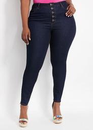 Five Button High Rise Skinny Jean
