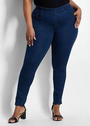 Pull On Elastic Waist Denim Skinny
