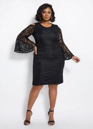 Lace Cold Shoulder Sheath Dress