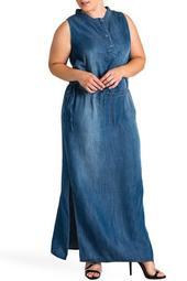 Makayla Sleeveless Tencel Maxi Dress (Plus Size)