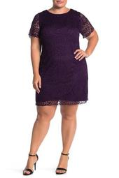 Lace Cap Sleeve Dress (Plus Size)