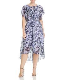 Watercolor Leopard-Print Dress