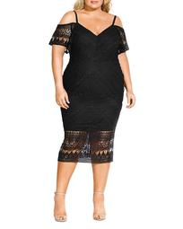 Impression Lace Off-the-Shoulder Dress