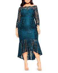 Estella Off-the-Shoulder Lace Dress