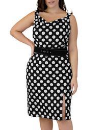Dot-Print Dress