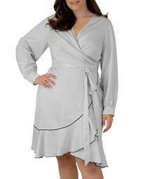 Polka Dot-Print Wrap Dress