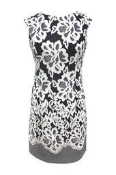 Floral Cap Sleeve Sheath Dress (Plus Size)