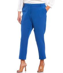 Plus Size Slim Leg Ankle Pants