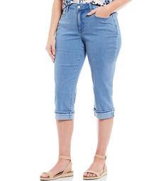 Plus Size Marilyn Cuffed Straight Leg Crop Jeans