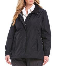 Plus Size Resolve Long Sleeve Hooded Rain Parka